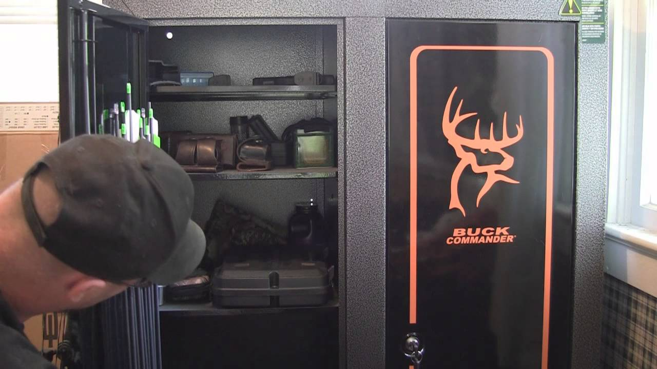 Product Review: Stack-on double door gun and bow cabinet - YouTube