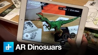 Octagon Studio 4D augmented reality app, with dinosaurs