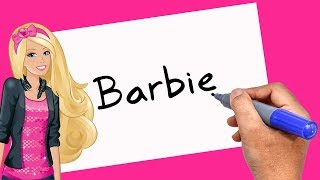 How to Turn words Barbie Into Cartoon - 2018 - Theakashcreations