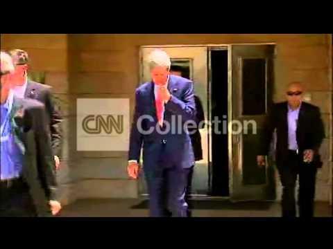 IRAQ:US SECRETARY KERRY - BAGHDAD ARRIVAL