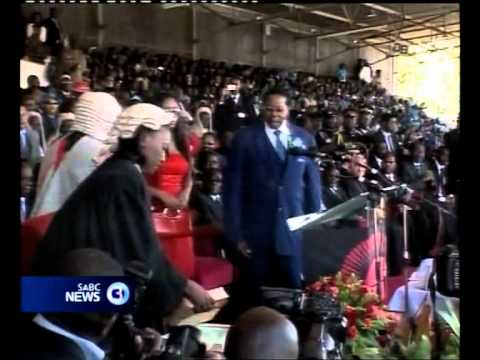 Malawi's Banda sworn in as president