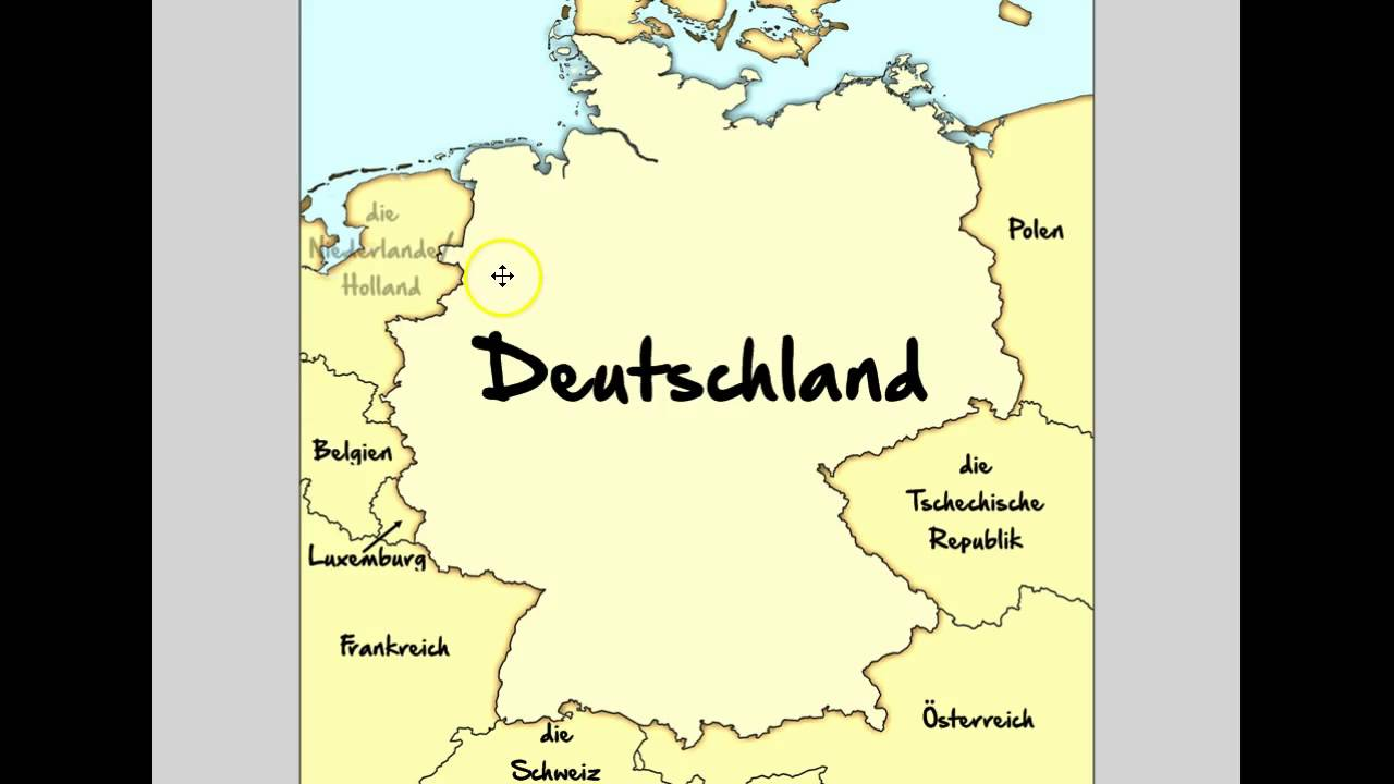 Map Of Germany With Neighbouring Countries.Germany S Neighboring Countries