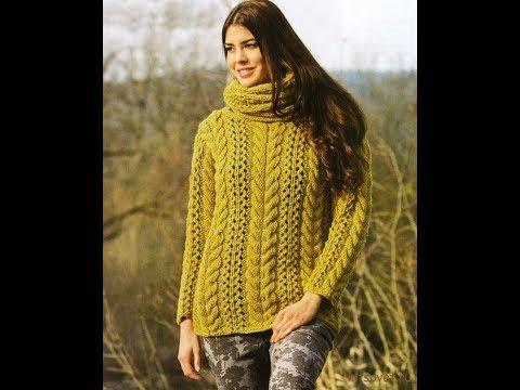 d6b0f076b16 Связать Женский Свитер Спицами - модели - 2019   Knit Women s Sweater  Knitting