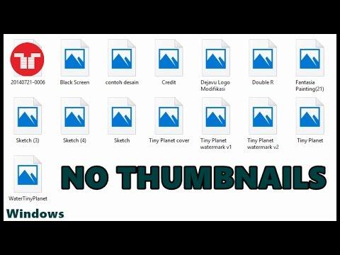 Mengatasi Gambar Thumbnails Tidak Muncul Di Windows 10 - YouTube
