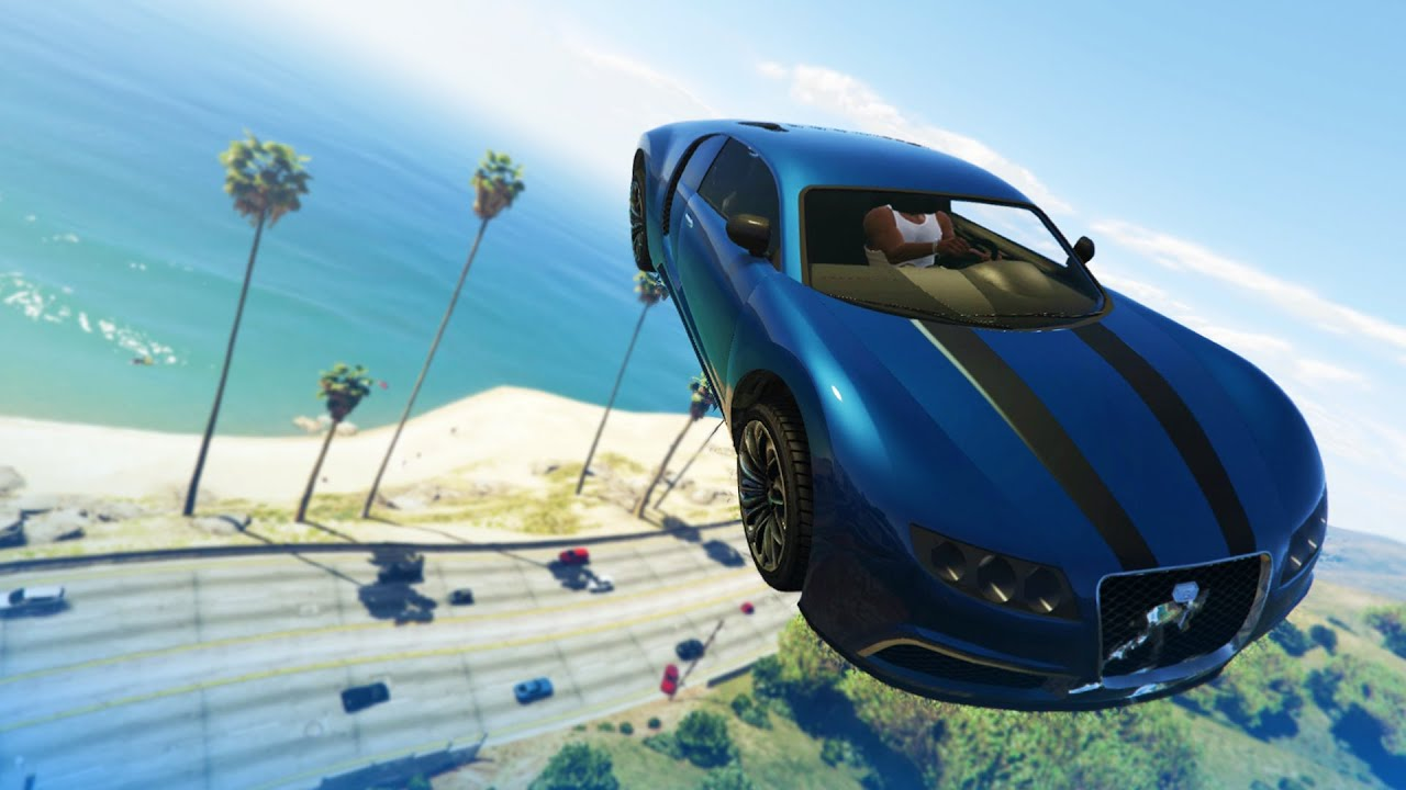 Car Stunts: GTA 5 Stunts: Impossible Car Stunt!