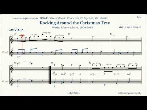 Rockin' Around The Christmas Tree - ( 1st Violin ) - YouTube