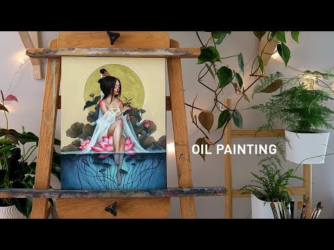 oil-painting-timelapse-🎨-goddess-of-mercy