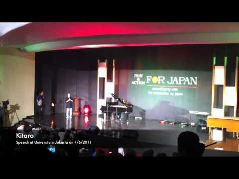 Kitaro - speech at University in Jakarta