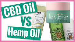 What's the difference between CBD and Hemp Oil Beauty Products? | Chemist Decodes CBD Beauty