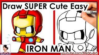 How to Draw Chibi Iron Man Cute Easy | FAN FRIDAY | Fun2draw Mei Yu Art