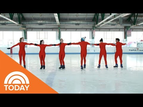We Tried Being An Olympic Skater To See What Synchronized Skating Is All About | TODAY