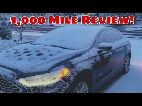 1,000 Mile Review On My 2019 Ford Fusion Hybrid!
