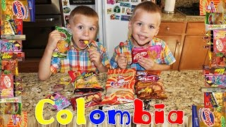 Kids Try Foods From Colombia || Universal Yums