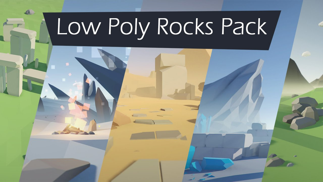 Low Poly Rocks Pack - Now Available on Unity Asset Store