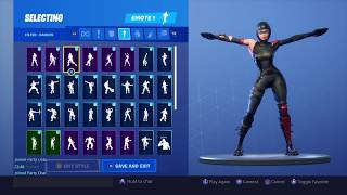 FORTNITE *SHADOW OPS* SKIN SHOWCASE (BACK BLINGS AND EMOTES)