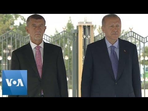 Turkey's Erdogan Meets Czech Prime Minister for Talks