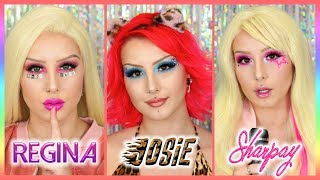 REGINA, JOSIE, SHARPAY | 3 MAKEUPS INSPIRÉS DE TEEN MOVIES (Mean Girls, Josie & the Pussycats, HSM)