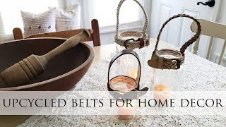 Upcycled Belts Turned into Home Decor