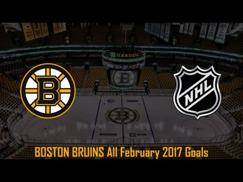Boston Bruins - NHL Season 2016/2017 - February (All Goals)