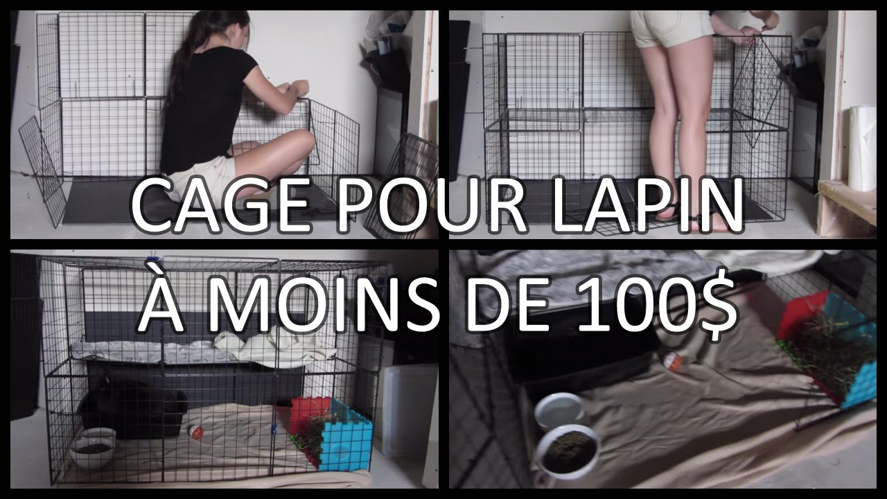 faire une cage pour lapin moins de 100 youtube. Black Bedroom Furniture Sets. Home Design Ideas