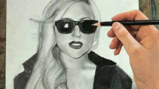 How to Draw Lady Gaga Step by Step (Portrait)