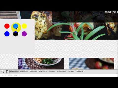 How To Add Dynamic Demo Color Panel In Your HTML Template By Useing CSS & jQuery