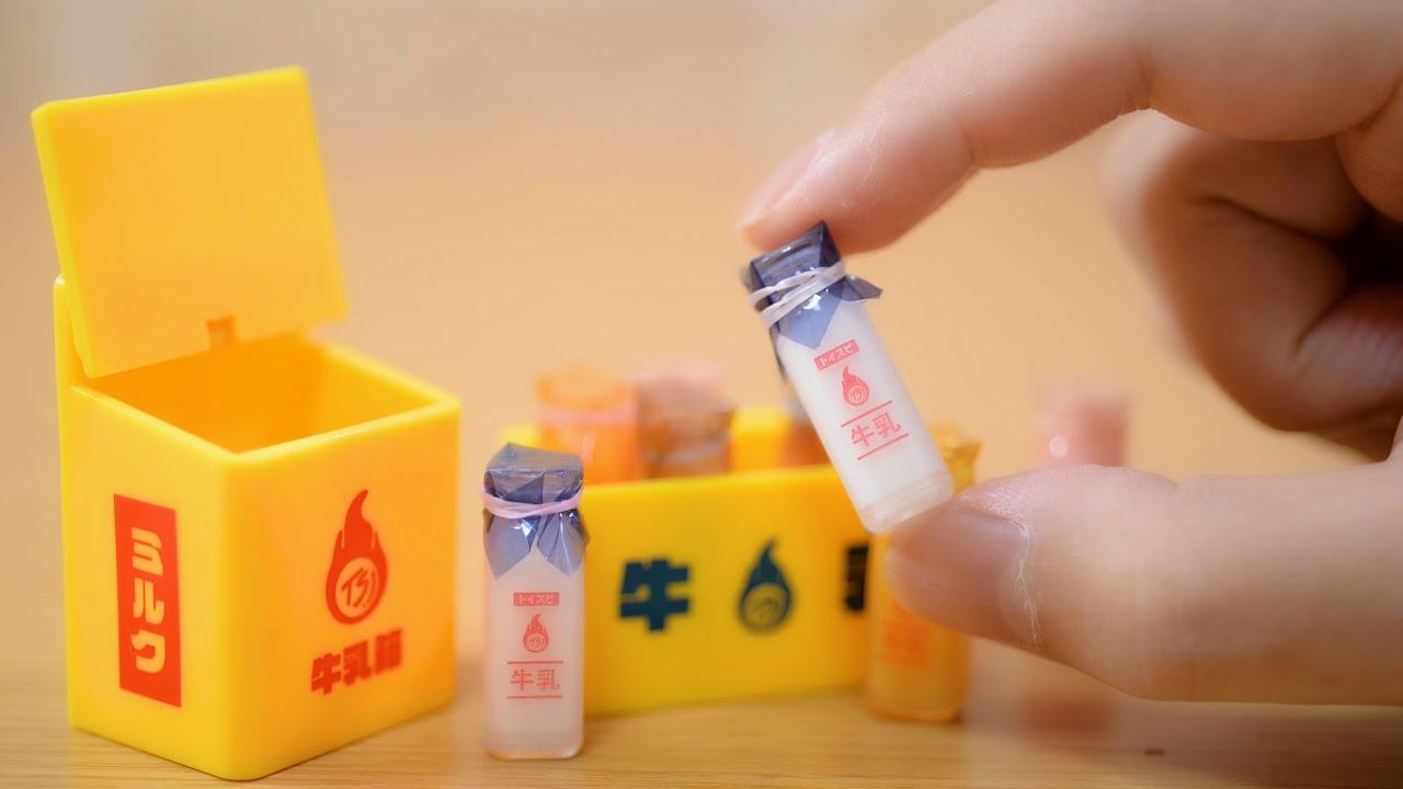 Cute miniature milk review-Stopmotion Cooking ASMR-