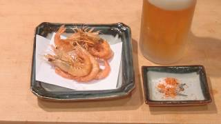 《小エビ(サル海老)の素揚げと 長崎ランタンフェスティバル》・・・・大和の 和の料理《揚げ物》