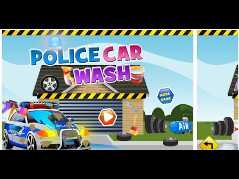 police car wash games cartoon games for kids video free car games to play now