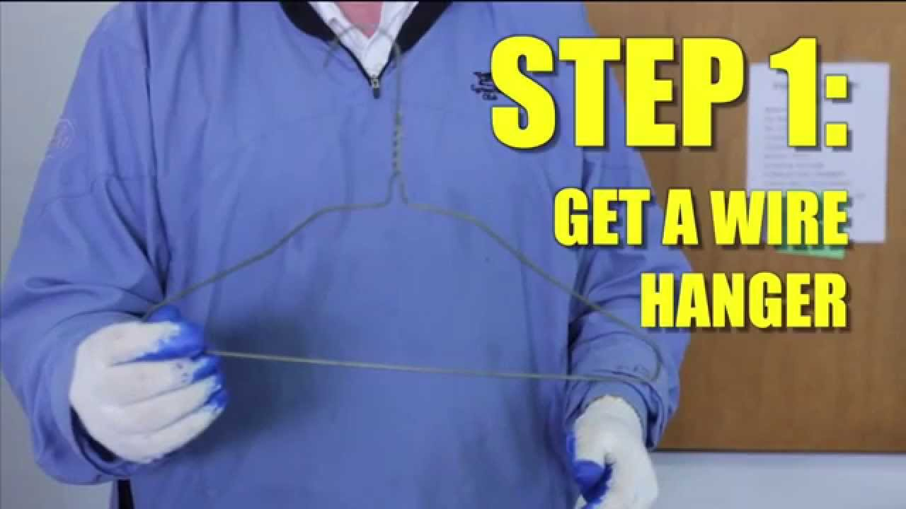 How To: Unclog A Drain With a Wire Hanger - YouTube