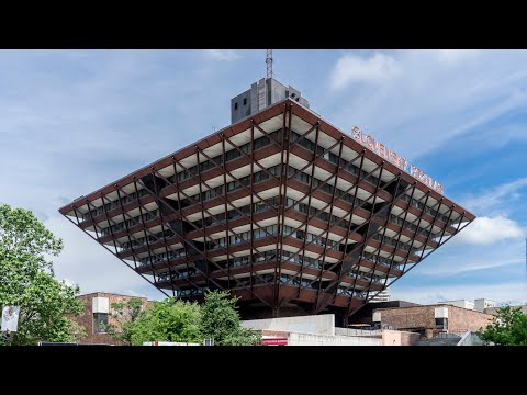 Complete architecture tour of the National radio building of Slovakia. Slovenský rozhlas