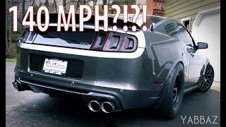 140mph Tunnel Run! 2014 Mustang GT Corsa Quad Exhaust