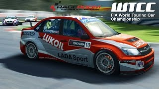 R3E WTCC 2013 LADA GRANTA WTCC Gameplay (PC HD)