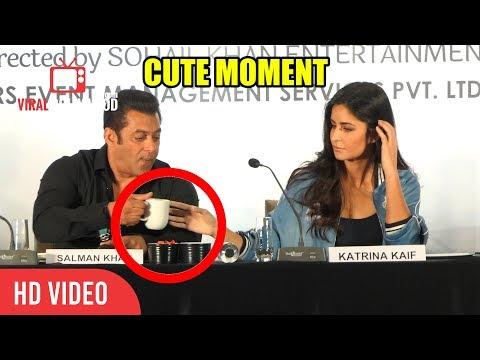 CUTE MOMENT Salman Khan Shares His Coffee With Katrina Kaif   SHARING IS CARING