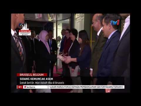 SIDANG KEMUNCAK   ASEM - DATUK SERI DR WAN AZIZAH TIBA DI BRUSSELS [18 OKT 2018]