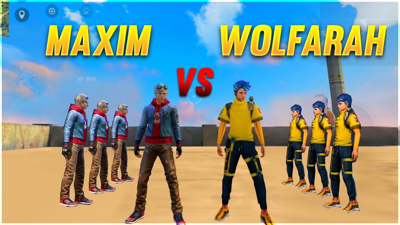 WOLFRAH VS MAXIM FACTORY CHALLENGE | 4 VS 4 WHO WILL WIN | AJJU BHAI | A_S GAMING #factoryfreefire