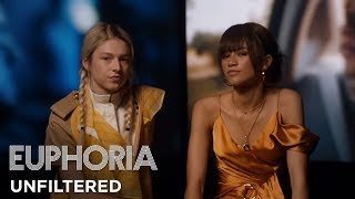 euphoria unfiltered zendaya and hunter schafer on rue and jules HBO