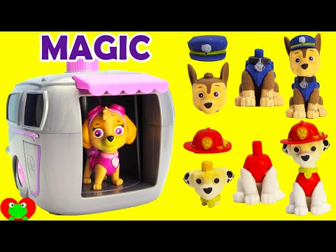Paw Patrol Skye Magical Pup House House with Shopkins Surprises and More