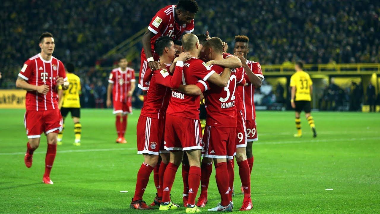 El Bayern refuerza su liderato tras imponerse al Dortmund (1-3)
