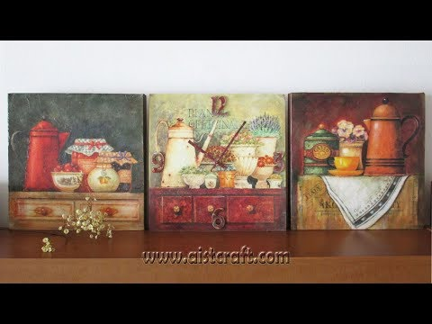 Decoupage on canvas tutorial - DIY  How to make easy canvas art
