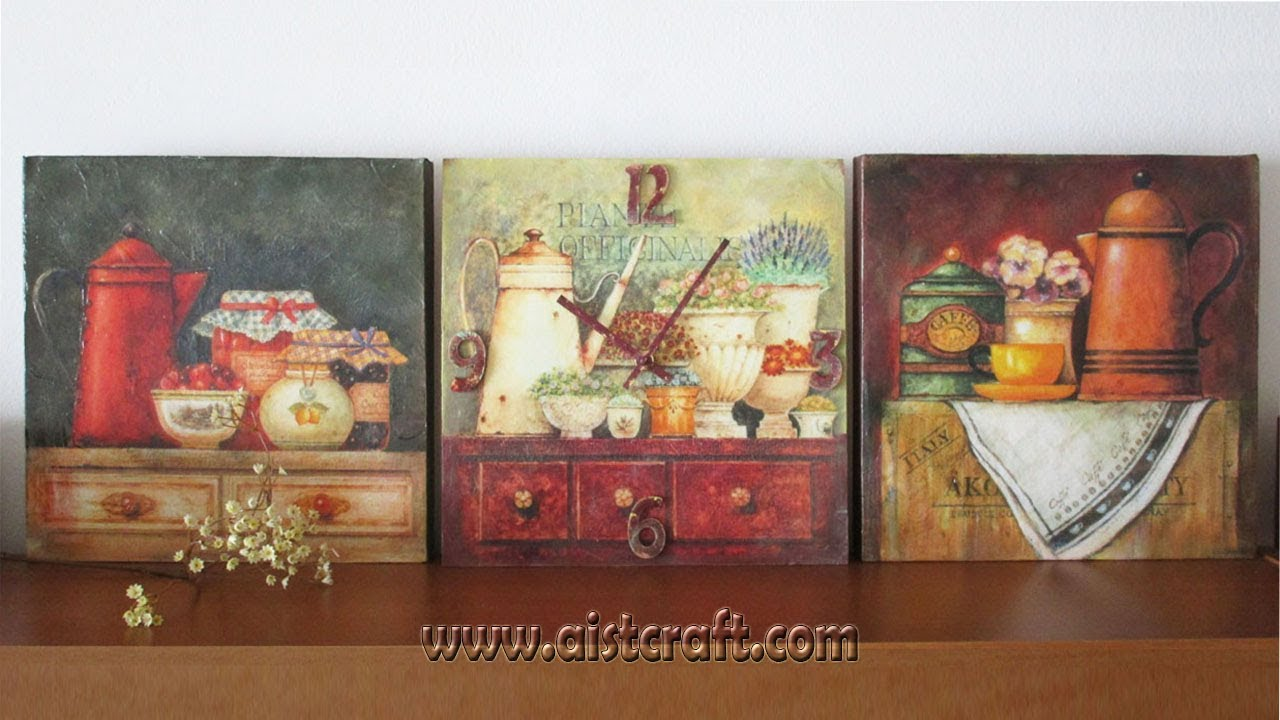Decoupage On Canvas Tutorial Diy How To Make Easy Canvas Art