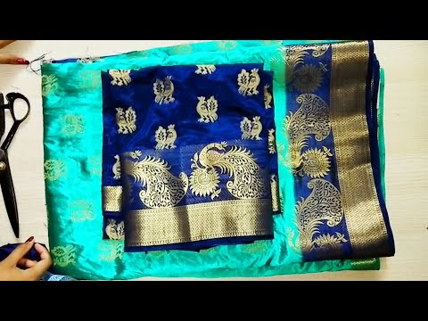 Diwali special model blouse back neck design cutting and stitching /blouse designs
