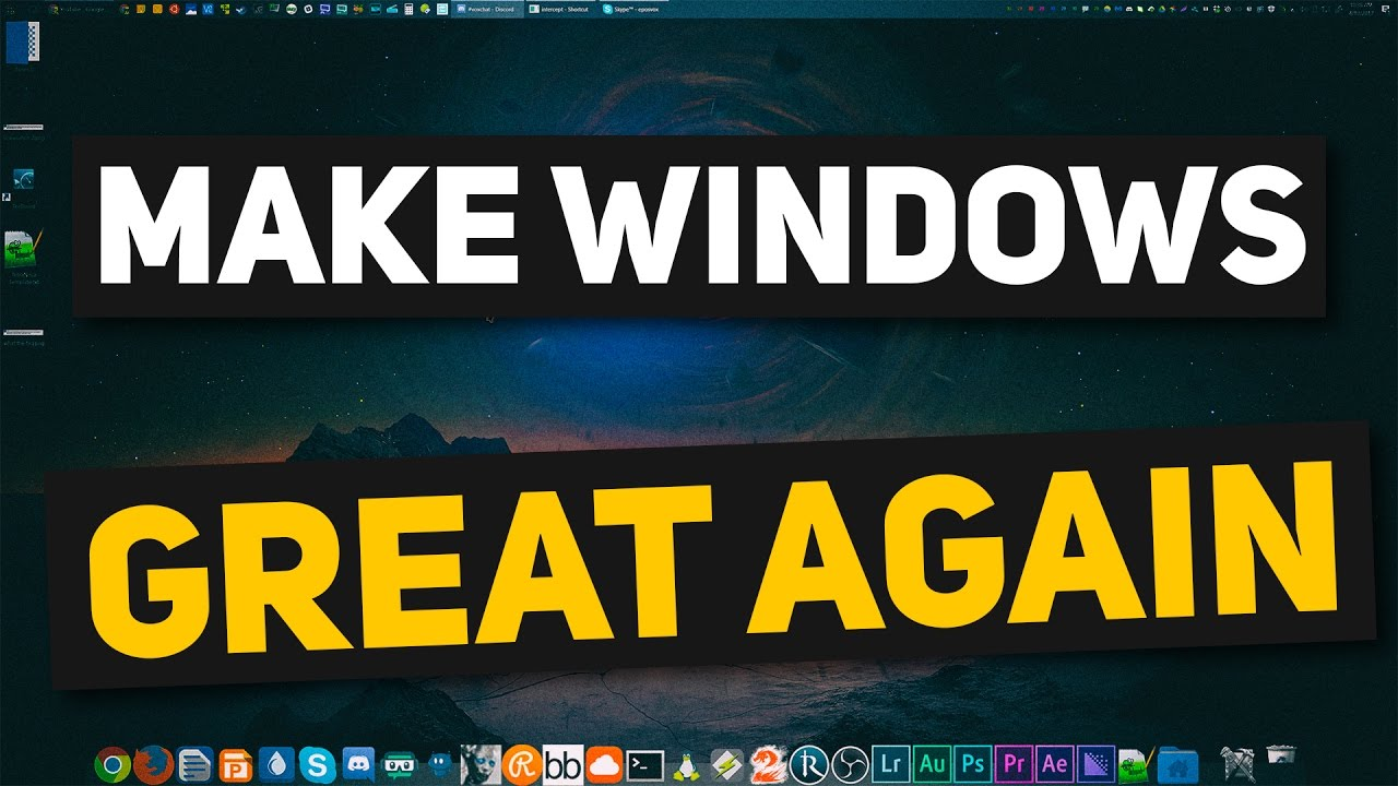 how to make windows 10 beautiful