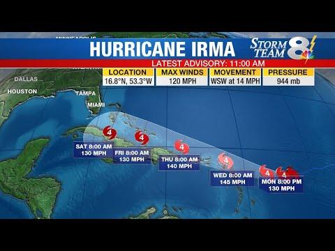 Irma's track uncertainty