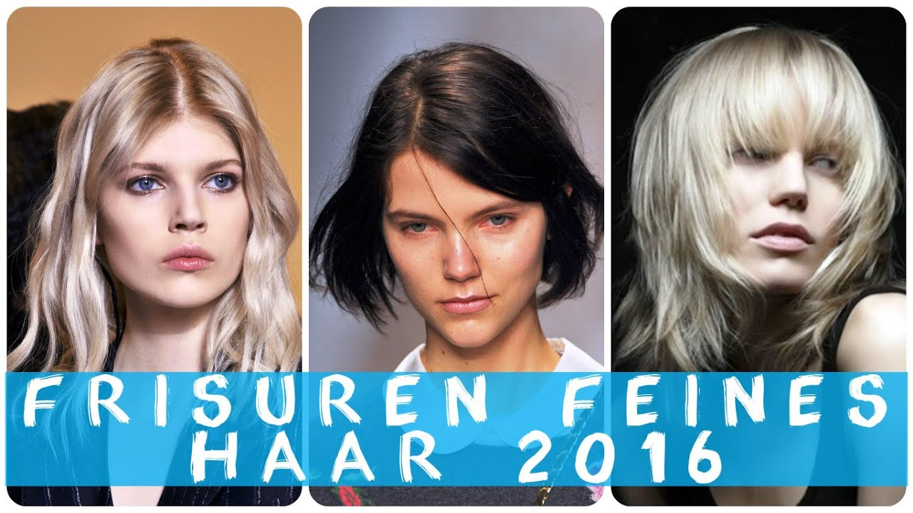 Frisuren feines haar 2016 - YouTube