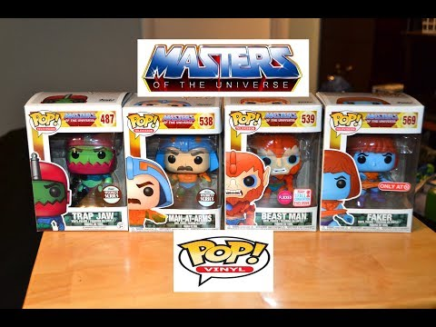 Beast Man Flocked NYCC 2017 US Exclusive Pop Vinyl Masters of the Universe