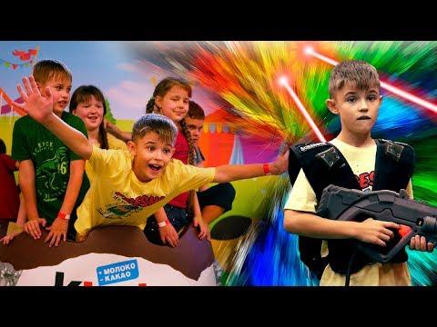 Веселый День Рождения ИСЫ Лазерные Бои и Гироскутеры Торт Бейблейд