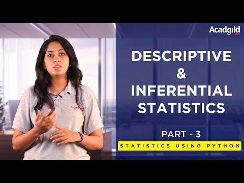 Statistics Using Python Tutorial Part 3 Descriptive, Inferential Statistics Data Science Tutorial #3
