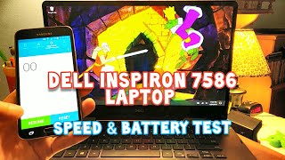 Dell Inspiron 15 (7586) 2 in 1 4K Laptop - Speed Test (Boot & Web Browser) and Battery Review