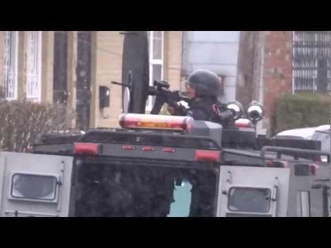 NYPD ESU (SWAT) on scene of Armed EDP barricaded in Rosedale house, Queens 3/18/13